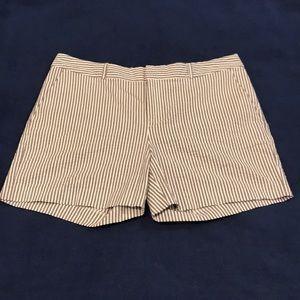 Pinstriped shorts